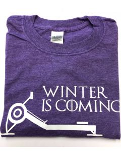 Winter is Coming Unisex S/S Tee Heather Purple