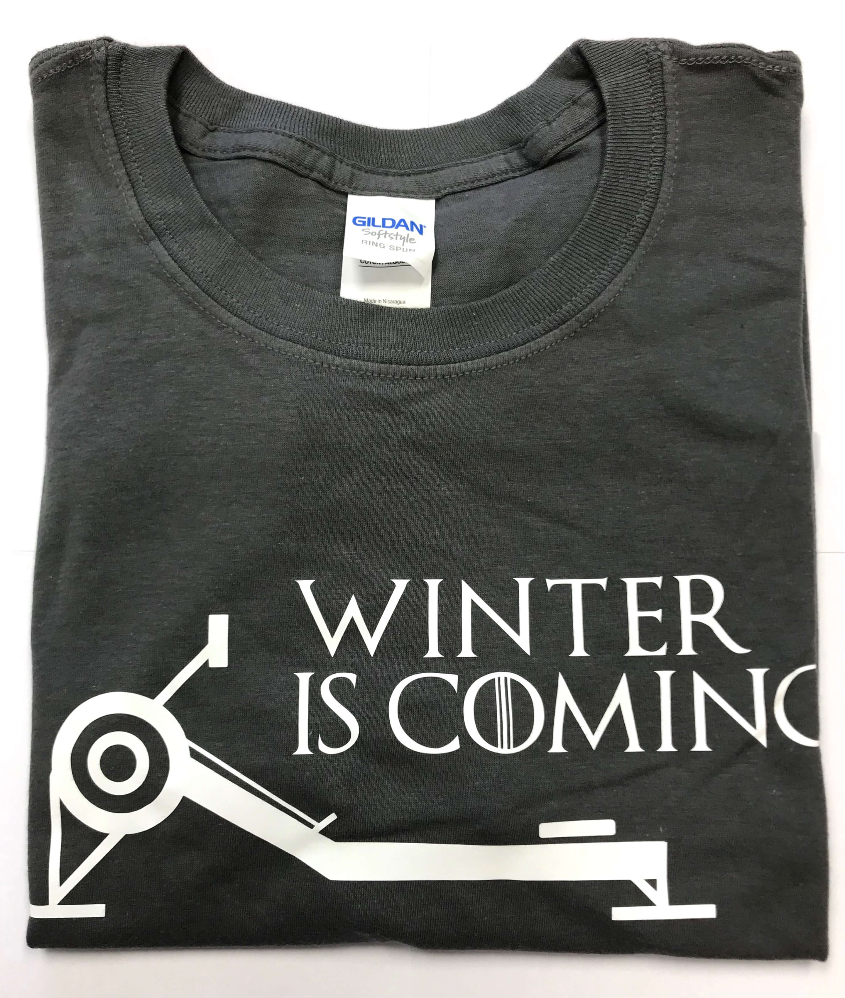 Winter is Coming Unisex S/S Tee Charcoal