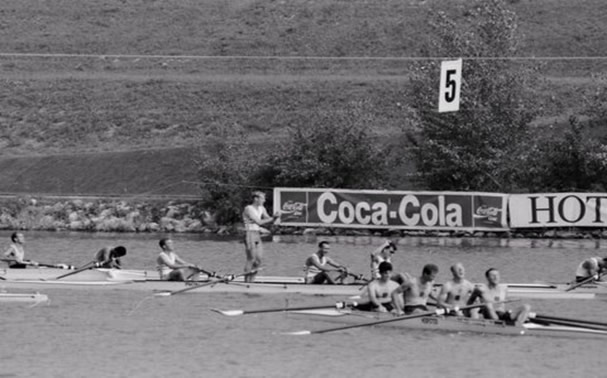 1991 Rowing World Championships with Tom Kay, Chris Bates, Toby Hessian and Carl Smith